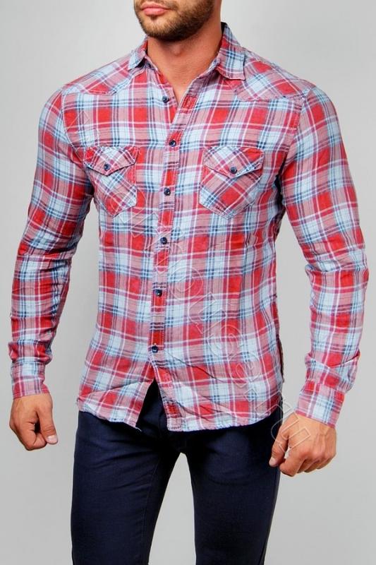 04e8cf881dfdc83 Мужская рубашка в клетку Wear House. Купить в интернет магазине ...