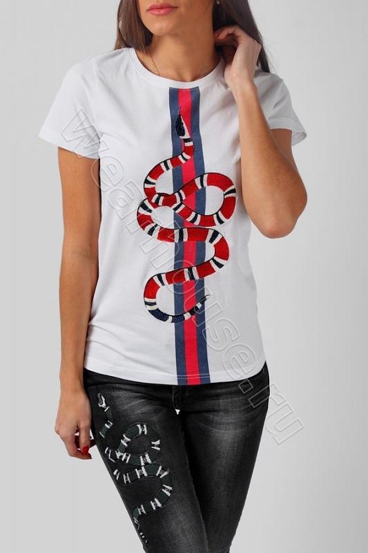 Женская футболка Gucci. Купить в интернет магазине. Цена в СПб ... e3c462ce1b6