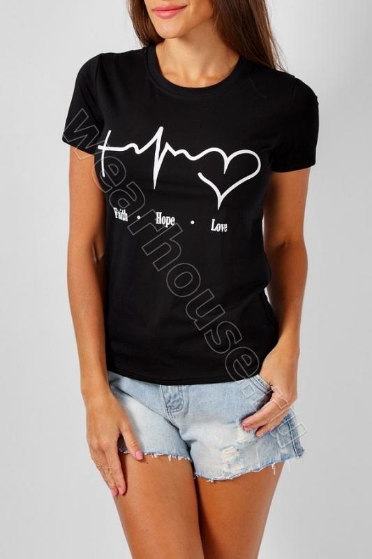 Женская футболка DG. Купить в интернет магазине. Цена в СПб   WearHouse bd4659309af