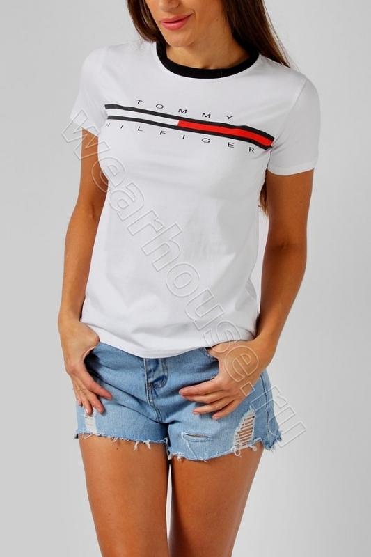 Женская футболка Tommy Hilhiger. Купить в интернет магазине. Цена в ... 24c3fbc7819