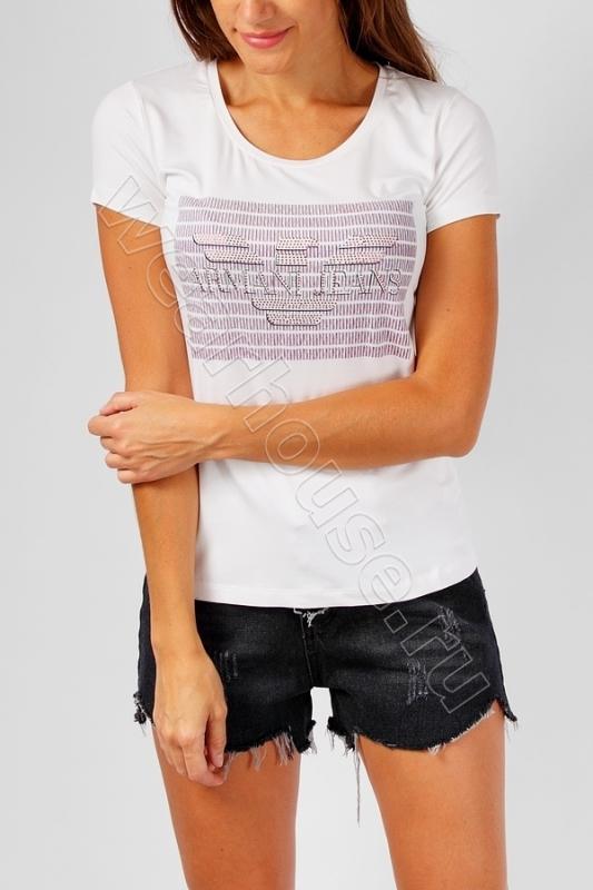 Женская футболка Armani. Купить в интернет магазине. Цена в СПб ... bed79bca435