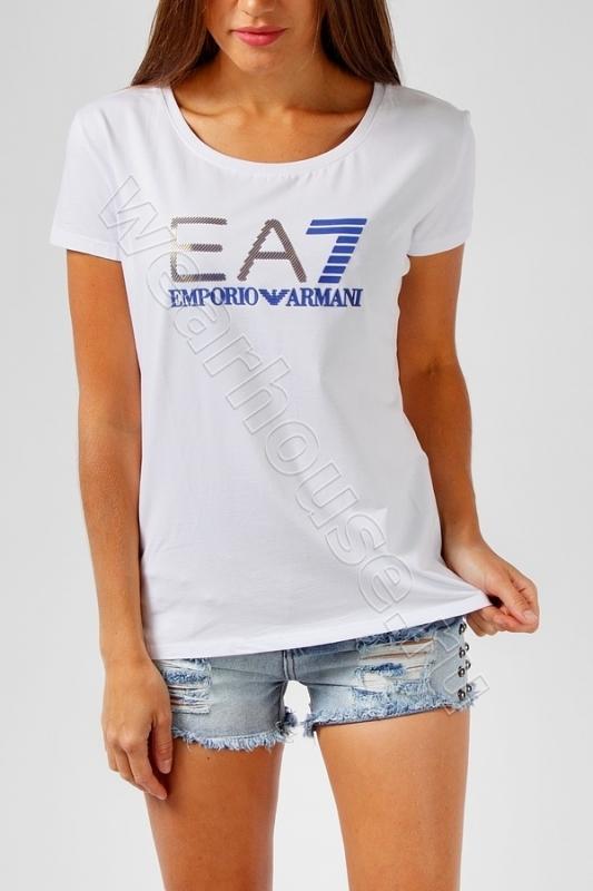 Женская футболка EA7. Купить в интернет магазине. Цена в СПб   WearHouse e4921ae405d