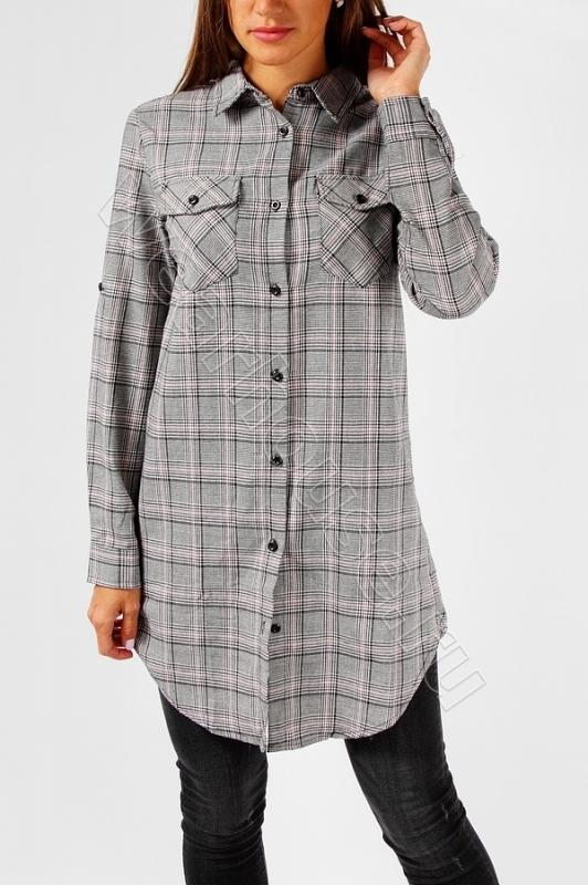 11137a02d3e Удлиненная рубашка в клетку Wear House. Купить в интернет магазине ...