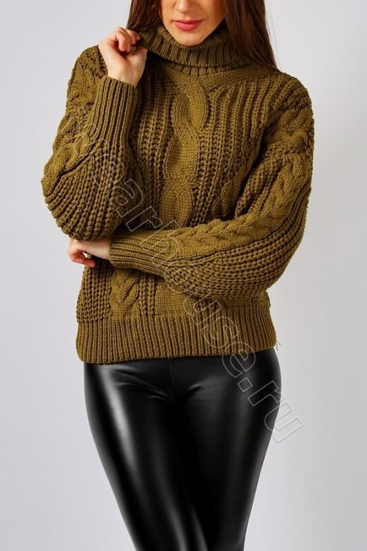 647e4f051b1 Женский свитер крупной вязки с горлом wear house. Купить в интернет ...