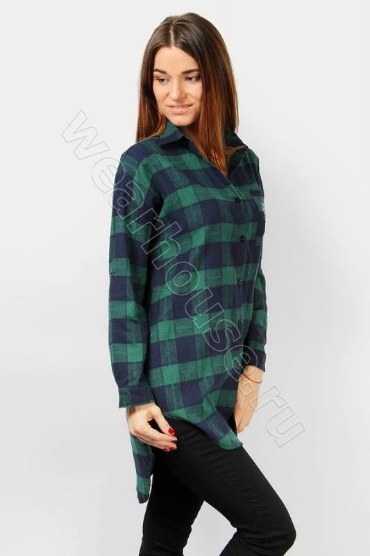 903e74befee Удлиненная женская рубашка в клетку Wear House. Купить в интернет ...