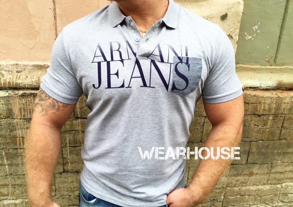Мужское поло Armani Jeans. Купить в интернет магазине. Цена в СПб ... fc8c43bdd0d